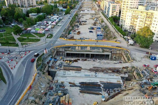 Warszawa. Budowa POW: przywrócono kolejne rondo przy ul. Płaskowickiej.