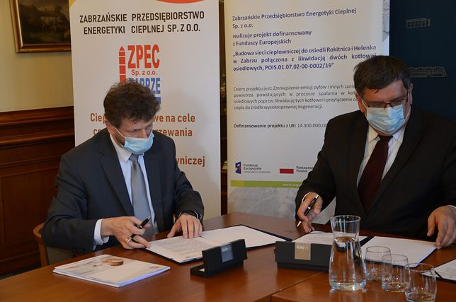 Zabrze. Władze miasta podpisały umowę na budowę magistrali ciepłowniczej.