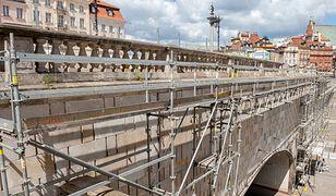 Warszawa. ZDM remontuje zabytkową balustradę (fot. Zarząd Dróg Miejskich)
