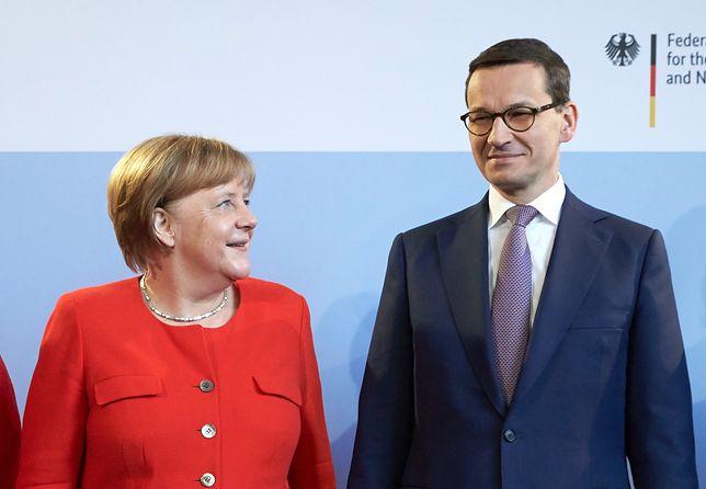 """""""Kanclerz z uznaniem wyraziła się o tym, że przyjmujemy sporo uchodźców"""" - Morawiecki po spotkaniu z Merkel"""