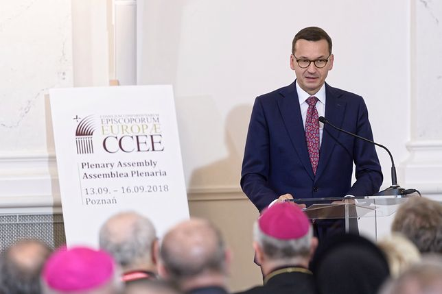 Mateusz Morawiecki podczas sesji otwierającej obrady Zebrania Plenarnego Rady Konferencji Episkopatów Europy