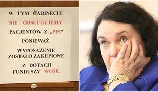 Poseł Anna Sobecka stanowczo zareagowała na kartkę wywieszoną na drzwiach gabinetu jednego z gdyńskich lekarzy.