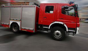 Akcję prowadziły dwa zastępy ochotniczej straży pożarnej