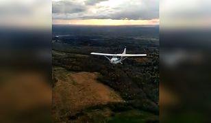 Samolot Cessna 172 minął dosłownie o włos maszynę, z której kręcono nagranie