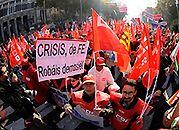 80 Hiszpanii protesty przeciwko cięciom budżetowym rządu