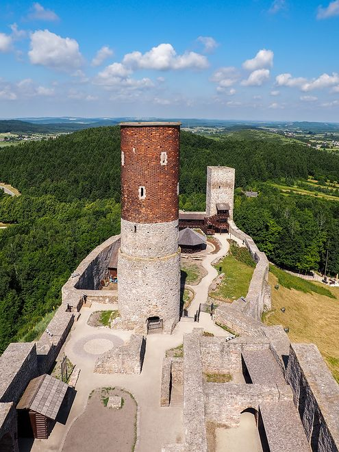 Atrakcje Polski - zamek w Chęcinach