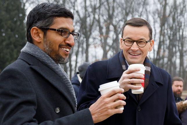 CEO Google z polskim premierem na spacerze w Łazienkach Królewskich