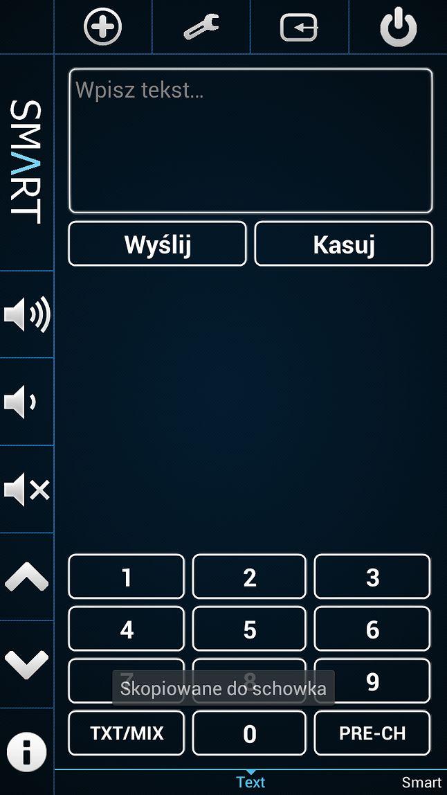 Wprowadzanie tekstu ze smartfona na Smart TV
