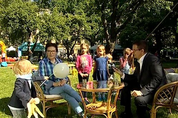 Dzień dziecka. Mały Julek i jego szczur przerwali wywiad premier Ewy Kopacz