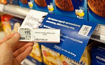 Tesco wprowadza elektroniczne etykiety cenowe