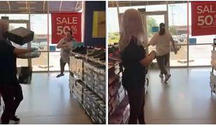 Agresywna klientka została zidentyfikowana dosłownie chwilę po wyjściu ze sklepu