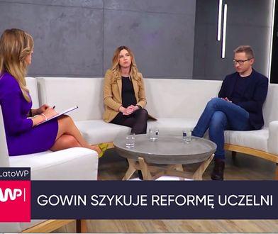 Kamila Baranowska i Sławomir Sierakowski w studiu WP TV