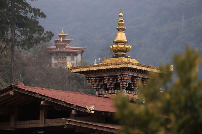Dach świątyni w Buthanie