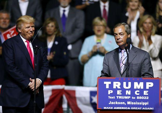 Donald Trump i lider Partia Niepodległości Zjednoczonego Królestwa Nigel Farage