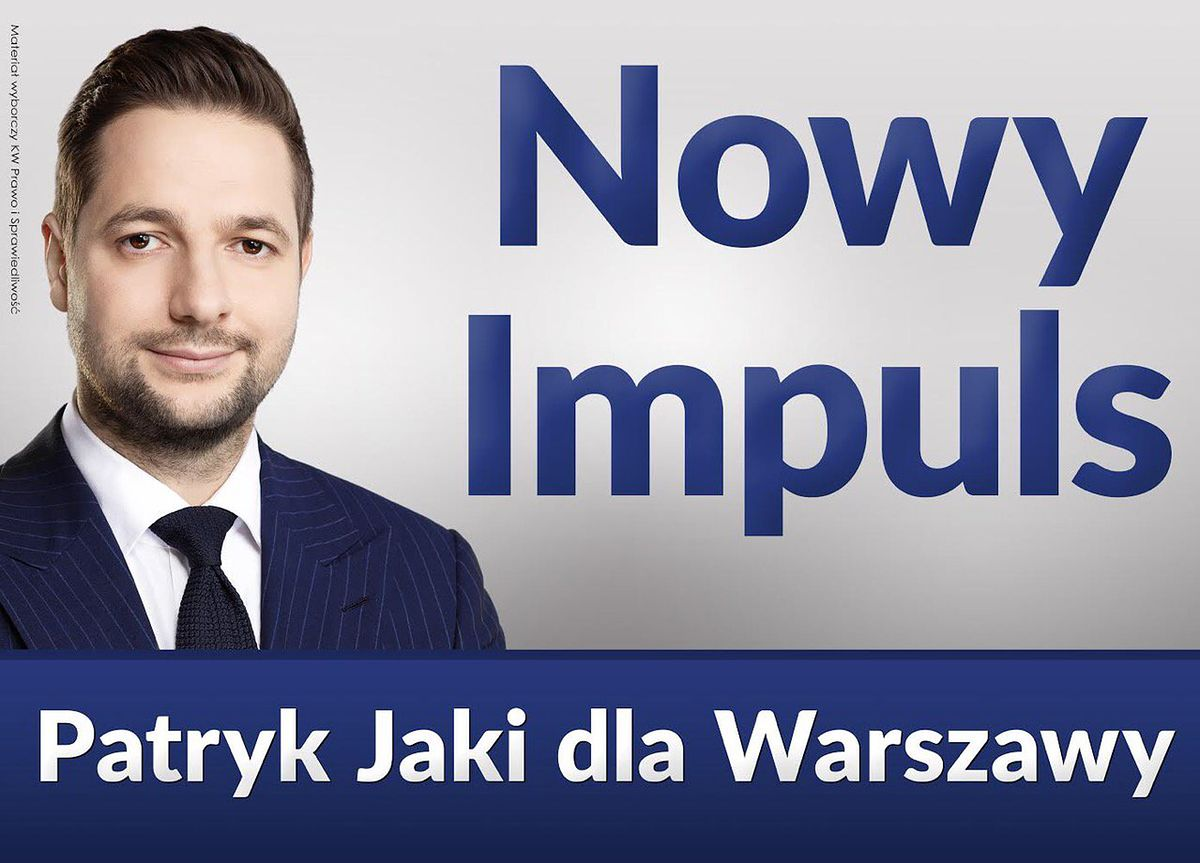 """""""Nowy impuls dla Warszawy"""". Patryk Jaki rusza z nową akcją w kampanii"""