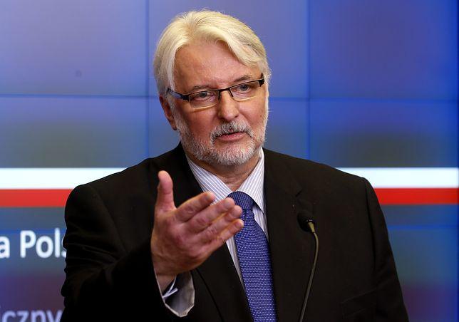 Witold Waszczykowski o słowach Władimira Putina: znamy to stanowisko od lat