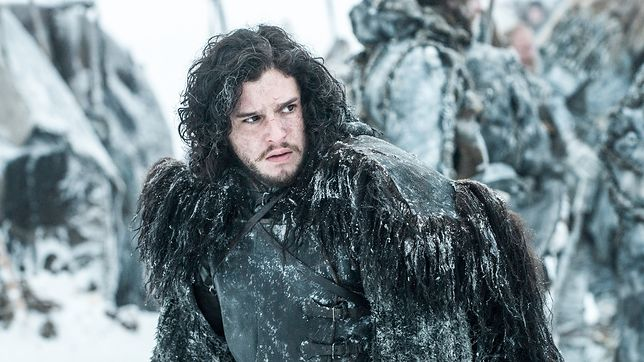 "Kit Harington jako Jon Snow w serialu ""Gra o tron"""