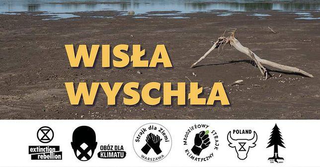 """Warszawa. """"Wisła Wyschła"""". Akcja ekologów w obronie degradowanej rzeki"""