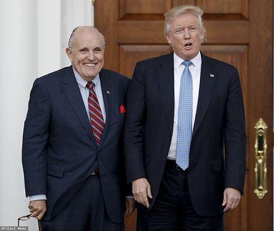 USA. Prawnik Rudy Giuliani (L) oraz prezydent Donald Trump (P) - zdj. arch.
