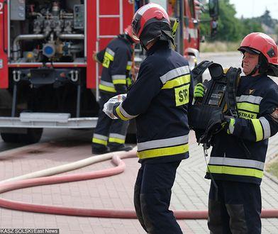 Pożar boiska gasili strażacy