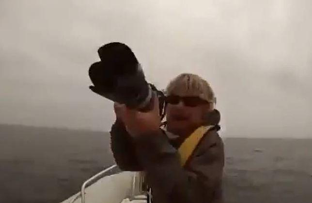 USA - wieloryby zaatakowały łódź