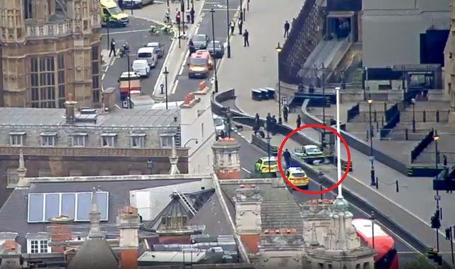 Auto wjechało w barierki przed Pałacem Westminsterskim