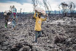 Brakuje jedzenia i wody. Dramat po erupcji wulkanu w Kongo