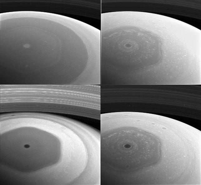 Sonda Cassini zdjęcia północnego bieguna Saturna wykonała z wysokości 640 tys. km