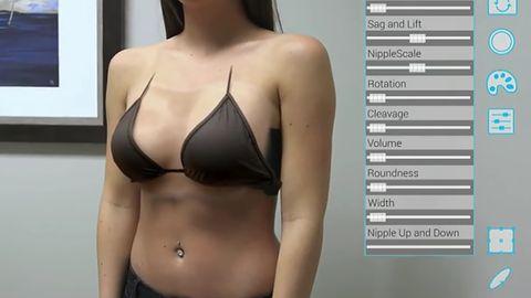 Przyszłość powiększania piersi zobaczymy w aplikacji rozszerzonej rzeczywistości