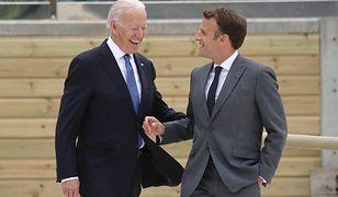 Biden chcę rozmawiać z Macronem o kryzysie dyplomatycznym