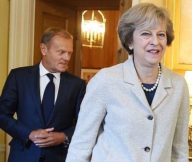 Donald Tusk i Theresa May
