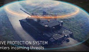Czołg posiada system aktywnego pancerza