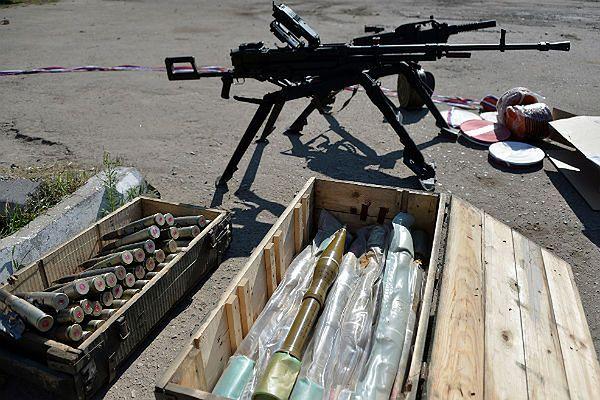 Broń i amunicja używane przez separatystów