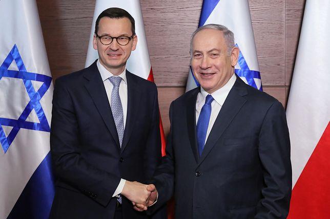 Mateusz Morawiecki i Benjamin Netanjahu podczas szczytu bliskowschodniego w Warszawie