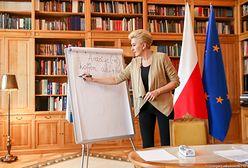 Koronawirus w Polsce. Pierwsza Dama uczy niemieckiego