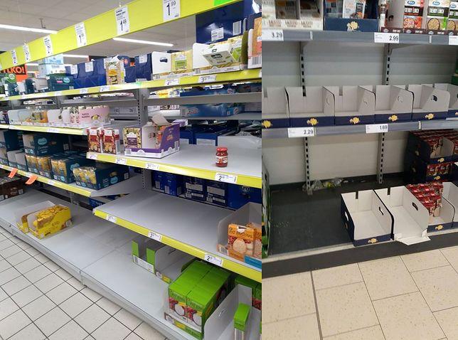 Puste półki w sklepach. Polacy szykują się na wirusa