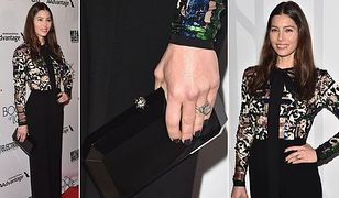 LOOK OF THE DAY: Jessica Biel w kombinezonie Elie Saab