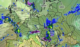 Pogoda. W poniedziałek i wtorek strefa opadów obejmie południowo-wschodnią część Polski