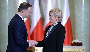 Prezydent Andrzej Duda i prezes TK Julia Przyłębska