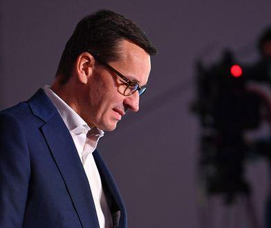 Spada poparcie dla premiera Mateusza Morawieckiego