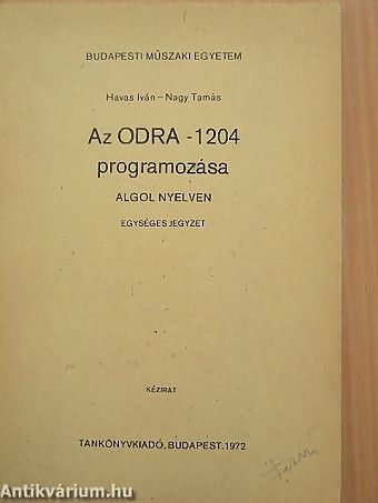 Instrukcja programowania Odry 1204
