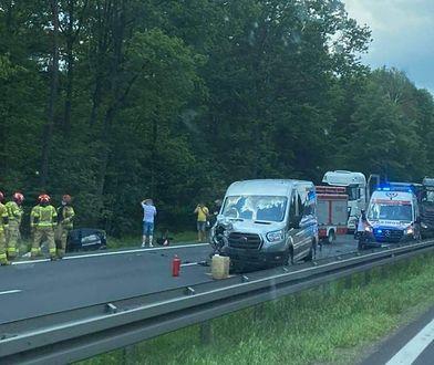 Śląsk. Wypadek na DK 1 w Piasku. Droga zablokowana, ucierpiało dziecko