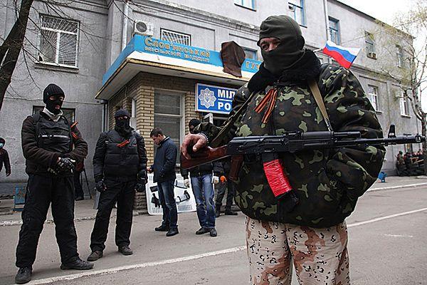 Uzbrojeni, zamaskowani mężczyźni zajęli komendę milicji w Sławiańsku