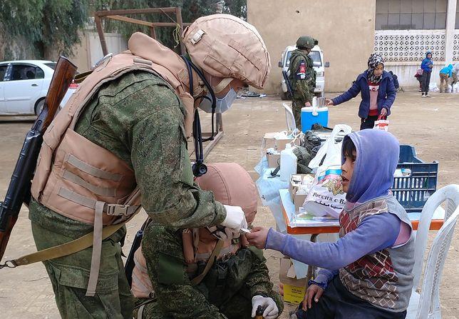 Rosyjscy lekarze wojskowi w Deir Ezzor w Syrii