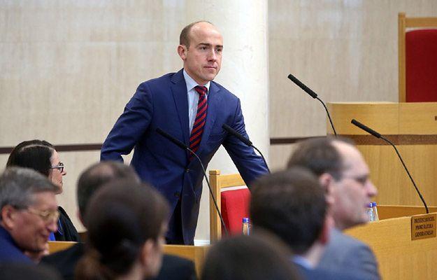Poseł PO Borys Budka w Trybunale Konstytucyjnym