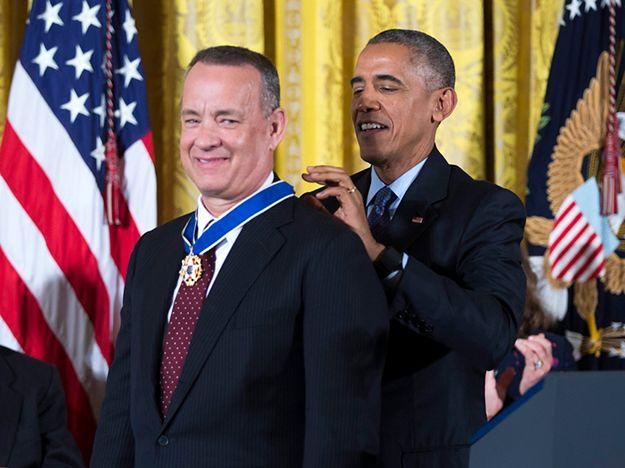 Medal Wolności z rąk Baracka Obamy otrzymał m.in. Tom Hanks