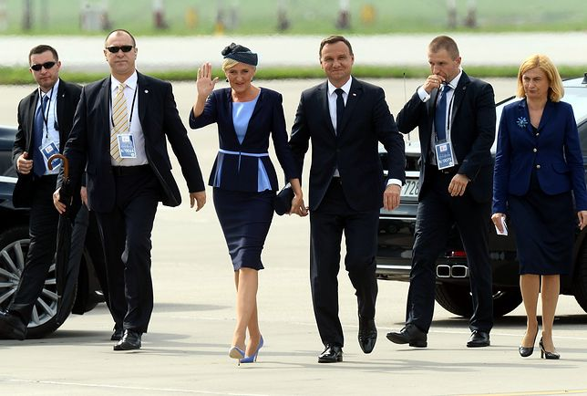 Para prezydencka na lotnisku w Balicach
