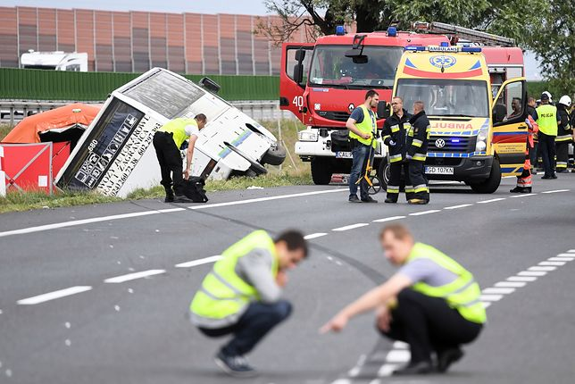 Wypadek autokaru w Konstantynowie