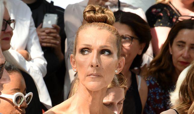 Celine Dione w Paryżu na jednym z pokazów