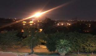Irak. Trzy rakiety wystrzelone w Zieloną Strefę w Bagdadzie. Do sieci trafiło wideo